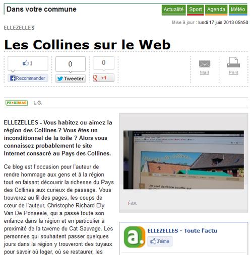 Le Pays des Collines sur le web